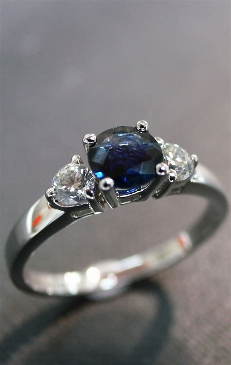 Blue Safir With Ring blue sapphire white gold engagement ring are you ready