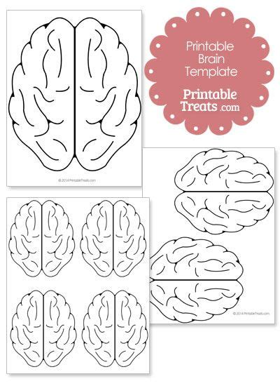 brain hat template printable brain template from printabletreats