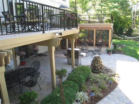 Mutil level outdoor living structures columbus columbus decks