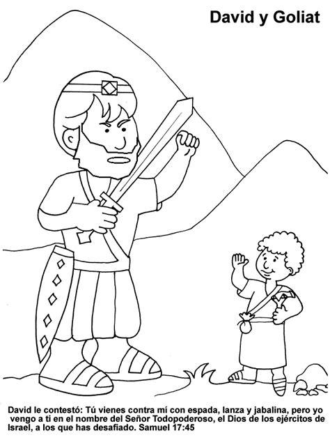 dibujos para colorear de david y goliat dibujos de david y goliat para colorear dibujos