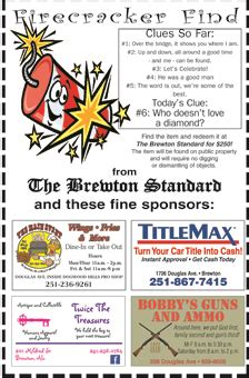Wedding Announcement Clue by Firecracker Find Clue No 6 Released The Brewton Standard