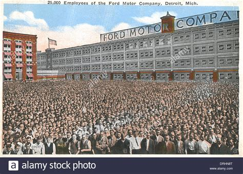 Ford Detroit by Employees Ford Motor Company Detroit Michigan Usa