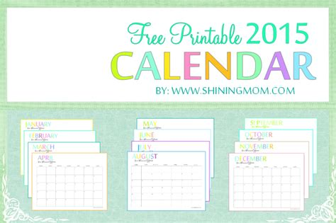 printable calendar 8 x 11 6 best images of free printable 2015 monthly calendars 8 x