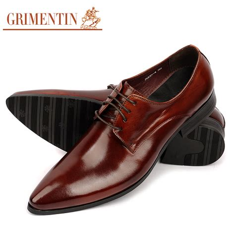Leather Formal Shoes Maroon designer mens pointed toe dress shoes genuine leather black burgundy brand formal oxford shoes