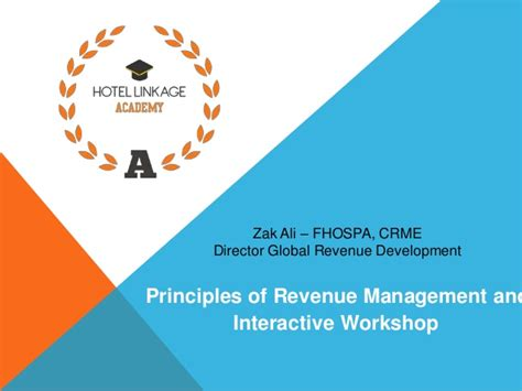 Mba In Revenue Management by Principles Of Revenue Management