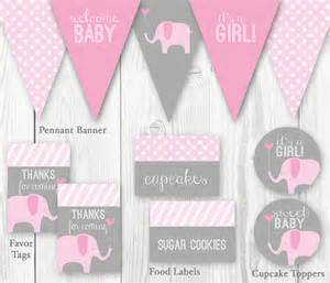 Gray Elephant Nursery Decor Items Similar To Elephant Baby Shower Package Pink