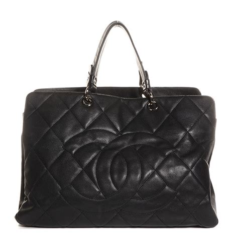 Chanel Black Quilted Tote by Chanel Caviar Quilted Xl Tote Black 99315