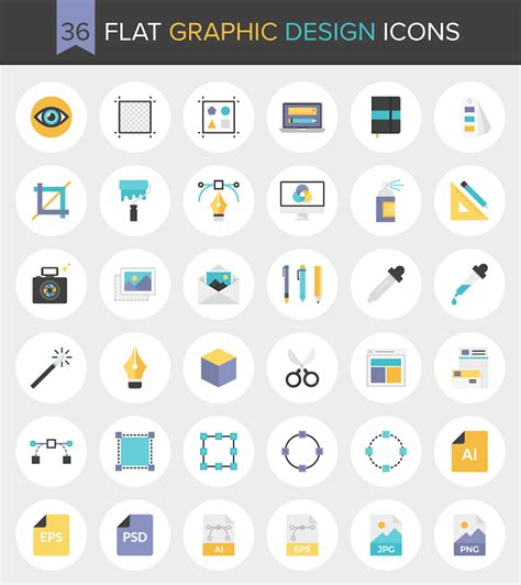 design icon free download download 36 flat graphic design icons free invision blog