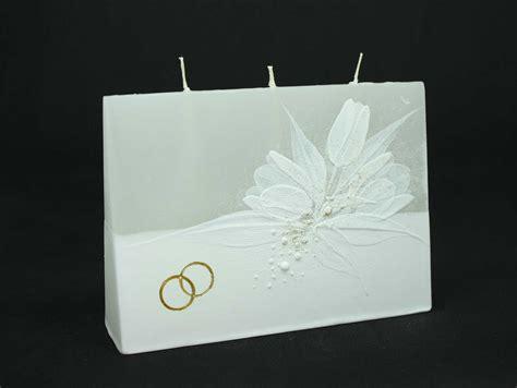 candela matrimonio candela tre stoppini tulipani e fedi oro candele shop