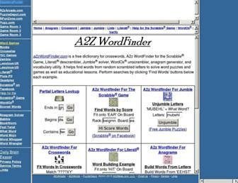 scrabble word finder a2z scrabble grams solver websites a2zwordfinder