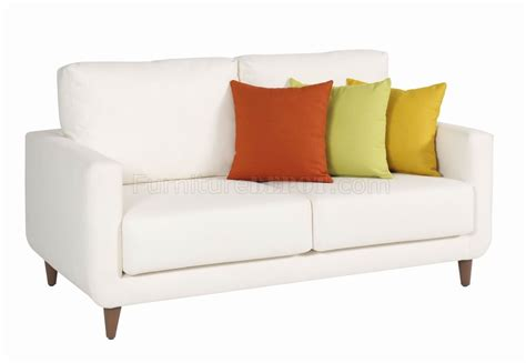 white fabric sofa white fabric modern sofa loveseat set w optional items