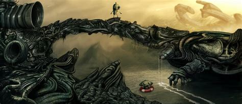 machinarium  giger world  dejano  deviantart