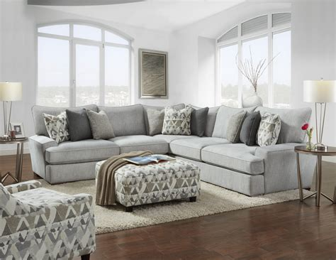 Furniture Sectional by Fus Alton Silver Sectional Precious Cargo