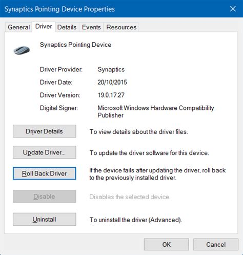 xp setup not working fix touchpad not working in windows 10