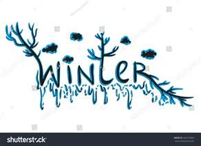 word winter hand draw style vector stock vector 332215802