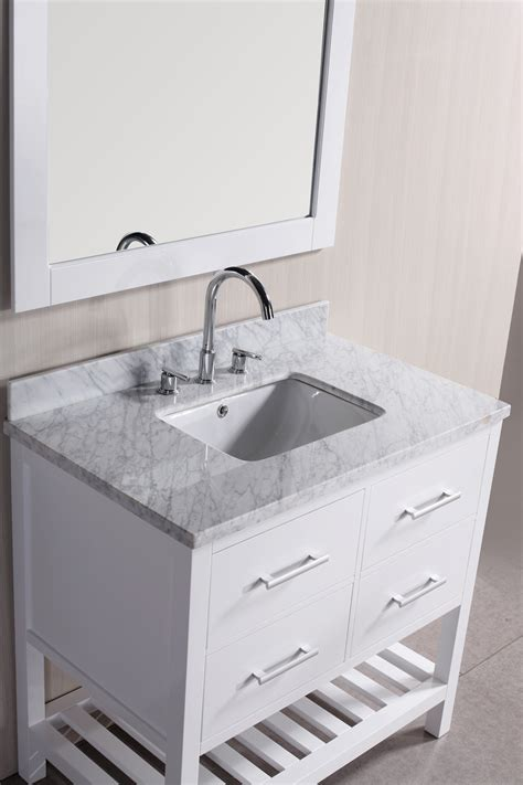 marble tops for bathroom vanities white wooden vanity with grey marble top and rectangular