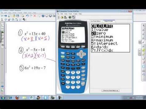 calculator factor factoring trinomials calculator program rockbreaker