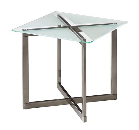 brushed nickel end table coaster 704437 end table brushed nickel 704437 at