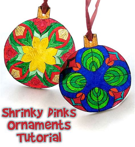 shrinky dinks christmas craft ornament woo jr kids