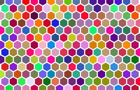 colorful pattern clipart colorful hex grid pattern 3
