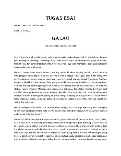 format esai bahasa indonesia tugas esai judul galau
