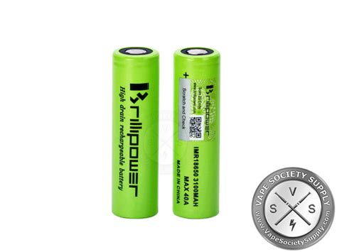 100 Authentic Blackcell Brillipower 3100mah 40a 18650 Battery Black brillipower 18650 3100mah 40a battery