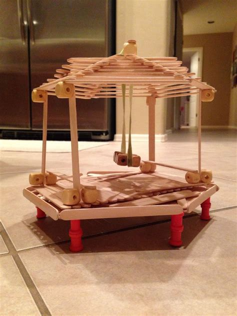 popsicle stick bench popsicle stick gazebo with a swing and two benches raised