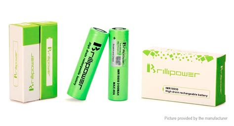 100 Authentic Blackcell Brillipower 3100mah 40a 18650 Battery Black 13 94 brillipower imr18650 3 7v 3100mah rechargeable li ion battery 2 pack authentic 40a