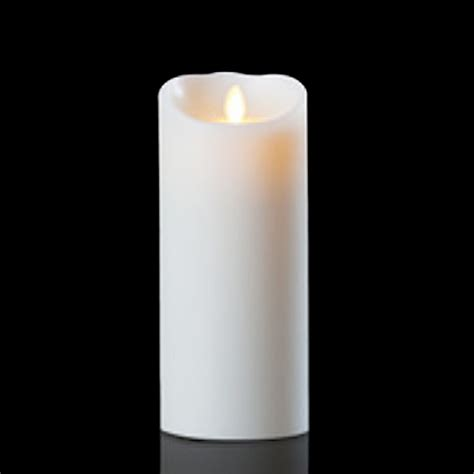 luminara candele luminara wax candle white 4 x 9 with timer remote ready