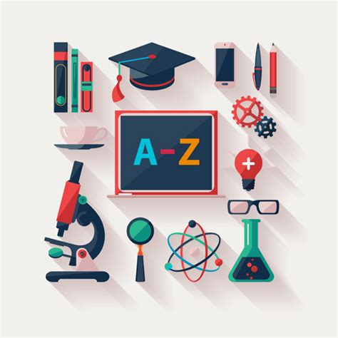 design education icon modern education icons vector material 03 life icons