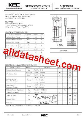 x13003 transistor datasheet 13003 transistor pdf californiafilecloud