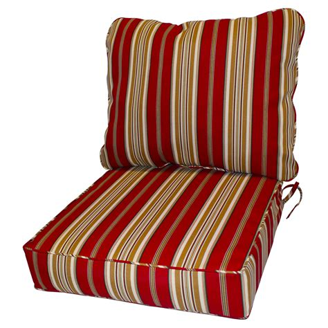 Lawn chair cushions 45inch x 25inch 2piece deep seat chair cushion in sunbrella lawn patio