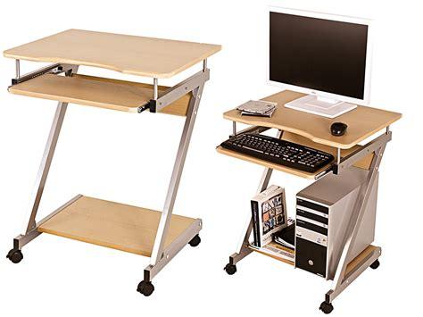 computertisch rollen computerwagen computertisch pc tisch rollen tisch buche
