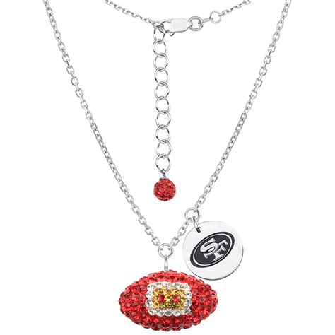 jewelry classes san francisco sterling silver nfl san francisco 49ers football