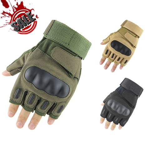 Glove Tactical Bikers Paintball Airsoft Impact Half images oakley fingerless tactical gloves