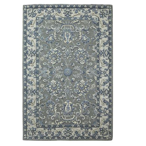 area rugs home decorators home decorators collection trinity grey silver 8 ft x 11