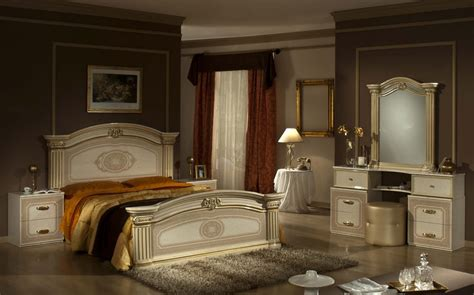 Gold Bedroom Furniture Sets Opera Italian Classic Beige Gold Bedroom Set