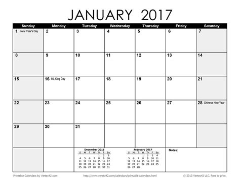 printable calendar to write on 2017 2017 large printable calendar calendar template 2016