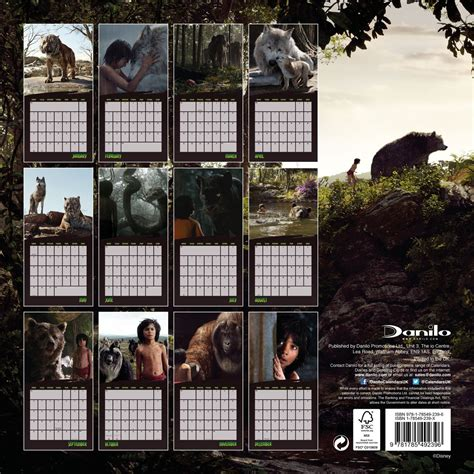 monkeys calendar 2018 books kalender 2018 the jungle book bei europosters