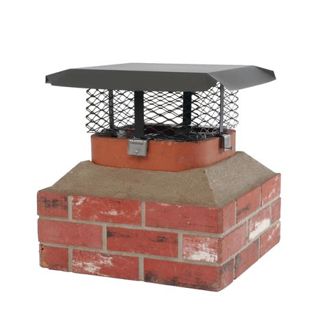 Fireplace Cap by Shop Shelter Adjustable Black Painted Galvanized Steel
