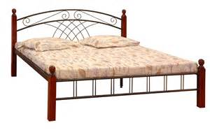 metal double beds home furniture black chrome bed wooden post full metal bend wood veneer