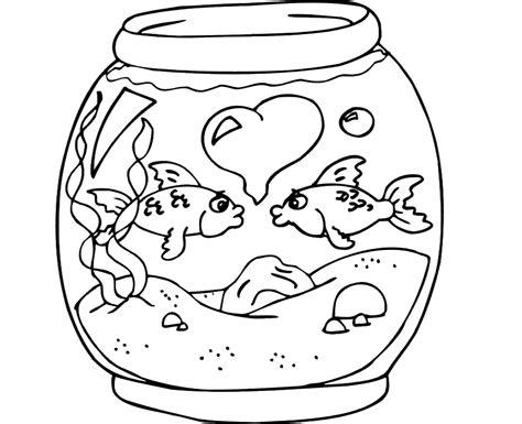 colour drawing free wallpaper fish bowl coloring drawing