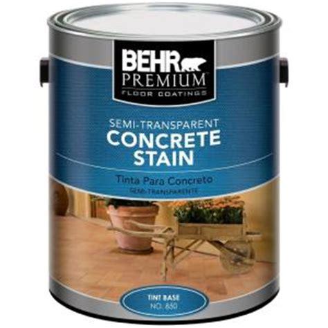 behr premium 1 gal semi transparent concrete stain 85001 the home depot