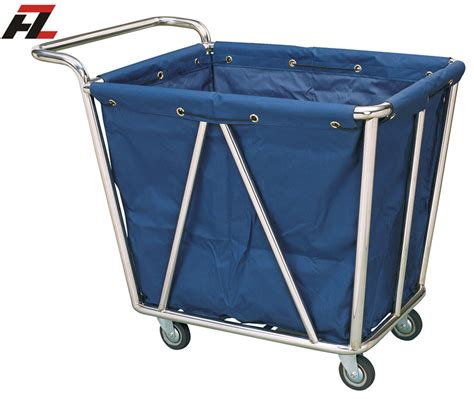 Laundry Trolley Linen Trolley hotel heavy washable linen laundry trolley with handle