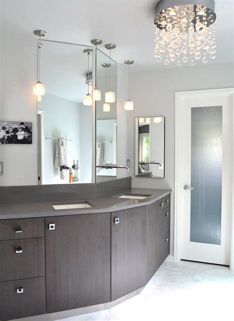 bathroom chandelier lighting ideas with lastest minimalist