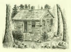 cabin drawings items similar to lost cabin original pencil drawing on etsy