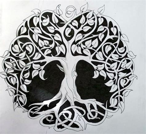 design for life tattoo ideas celtic tree tattoos designs