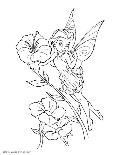 Disney Tinkerbell Coloring Book Disney Fairies Tinker Bell - Flower-fairy-coloring-pages