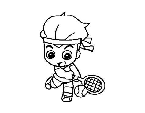 imagenes de niños jugando tenis para colorear dibujo de tenis para colorear dibujos net