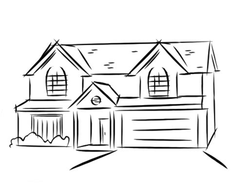 drawings of houses house line drawing clip art 42